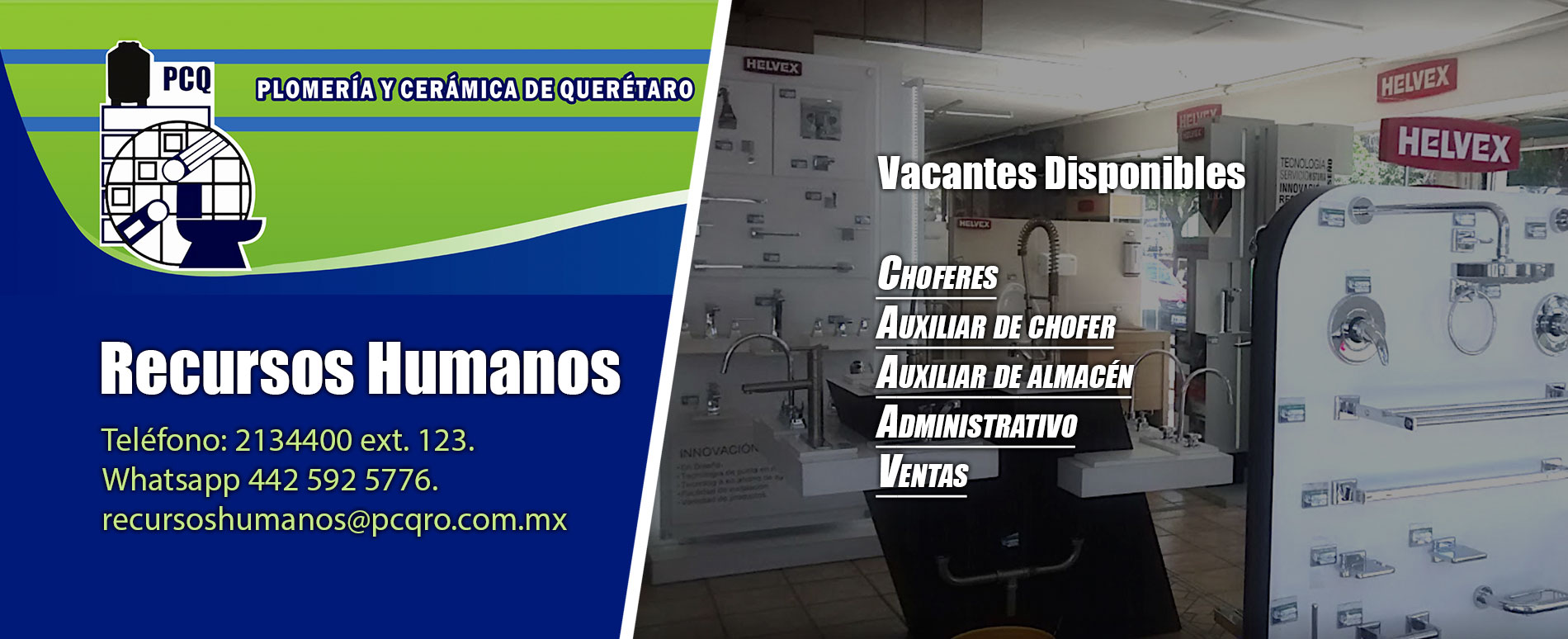 RH recursos Humanos PCQ vacantes disponibles.